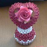 Hướng dẫn làm giỏ hoa giấy đan hình trái tim