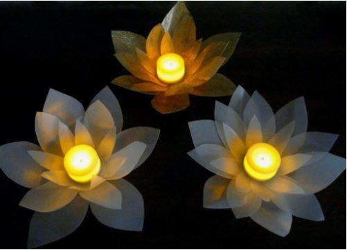 cách làm hoa nến đơn giản