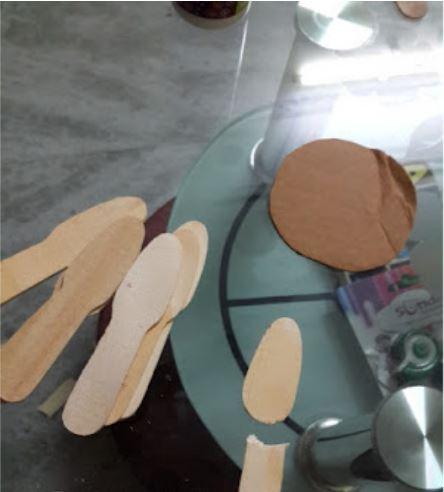 cách làm hoa sen bằng que kem gỗ
