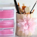 Hướng dẫn làm hộp bút hình trụ bằng que tăm gỗ