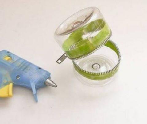 cách làm hộp đựng từ chai nhựa