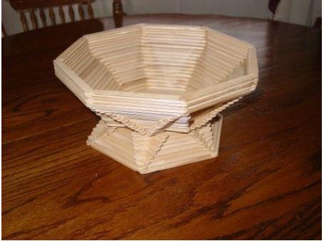 cách làm khay đựng đồ bằng que kem gỗ