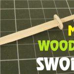 Hướng dẫn làm kiếm gỗ bằng que kem gỗ