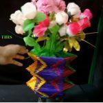 Hướng dẫn làm lọ hoa đơn giản từ que kem màu