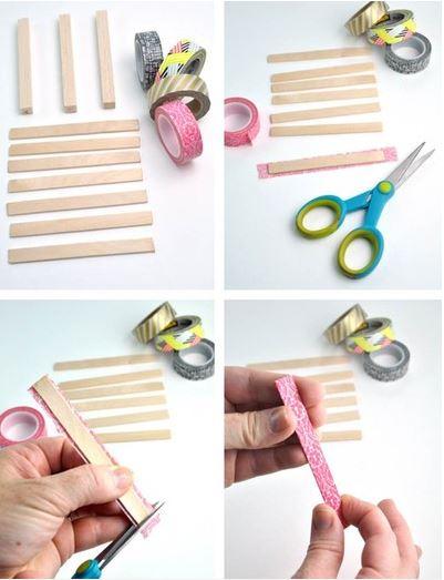 cách làm đế lót ly từ que kem gỗ