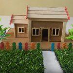 Hướng dẫn làm ngôi nhà giấy bìa carton sân vườn