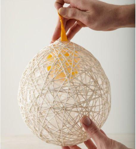 cách làm quả cầu từ dây thừng