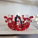 Hướng dẫn làm thiệp valentine nụ hôn 3D tuyệt đẹp