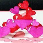 Hướng dẫn làm thiệp trái tim 3D cho dịp valentine