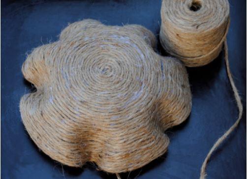 cách làm tô đựng hoa quả bằng dây thừng