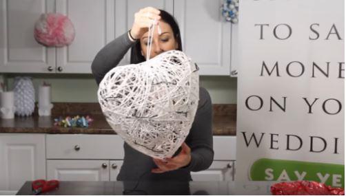cách làm trái tim từ dây thừng