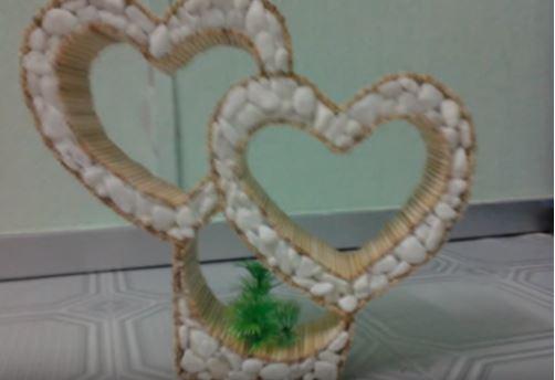 cách làm trái tim từ tăm tre