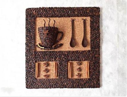 cách làm tranh 3d từ hạt cà phê