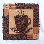 Hướng dẫn làm tranh 3D đơn giản từ hạt cà phê
