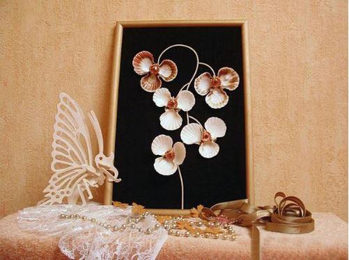 cách làm tranh treo tường từ vỏ sò