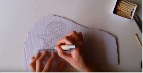 cách tạo chữ bằng que diêm