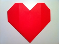 cách gấp trái tim origami