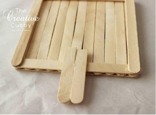 làm giỏ treo thức ăn cho chim từ que kem gỗ