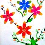 Hướng dẫn làm tranh hoa đơn giản bằng que kem gỗ