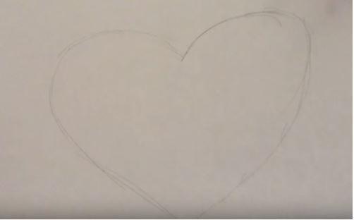 làm bức tranh trái tim bằng cúc áo