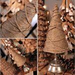 Hướng dẫn làm cây thông đơn giản từ dây thừng