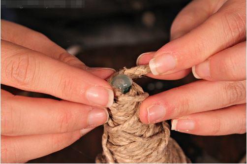 làm cây thông từ dây thừng