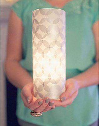 cách làm đèn ống giấy