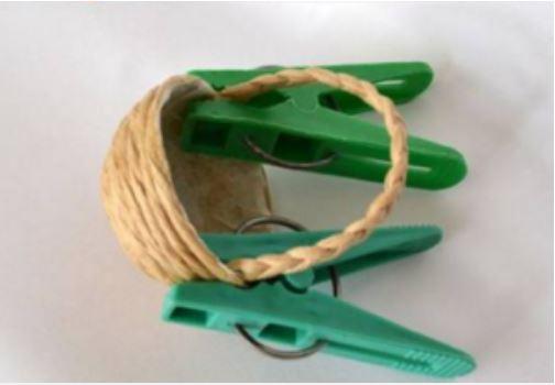làm giỏ mini để bàn từ dây thừng