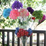 Hướng dẫn làm hoa cẩm tú đơn giản từ giấy nhún