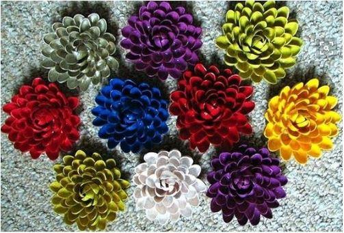 làm hoa từ vỏ hạt dẻ