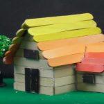 Hướng dẫn làm ngôi nhà tí hon từ que kem gỗ