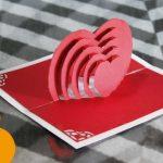 Hướng dẫn làm thiệp hình trái tim 3D bên trong