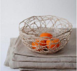 làm tô đựng trái cây từ dây thừng