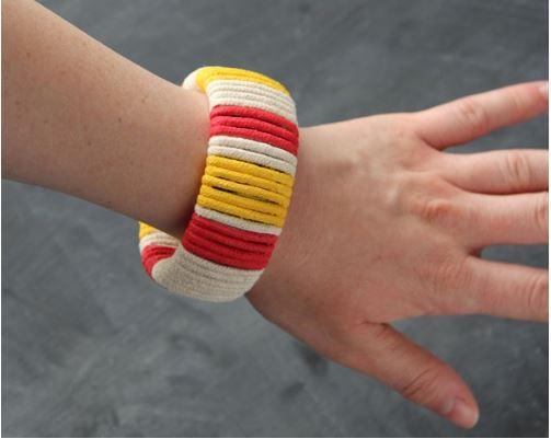 làm vòng tay đơn giản từ dây thừng