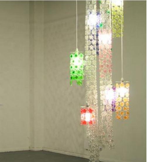 trang trí nhà bằng chai nhựa