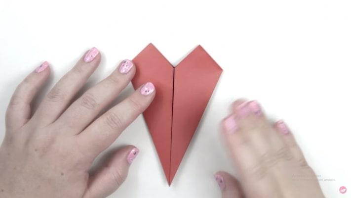 cách gấp hình trái tim đơn giản