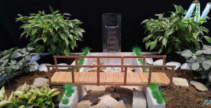 cách làm cầu và đài phun nước