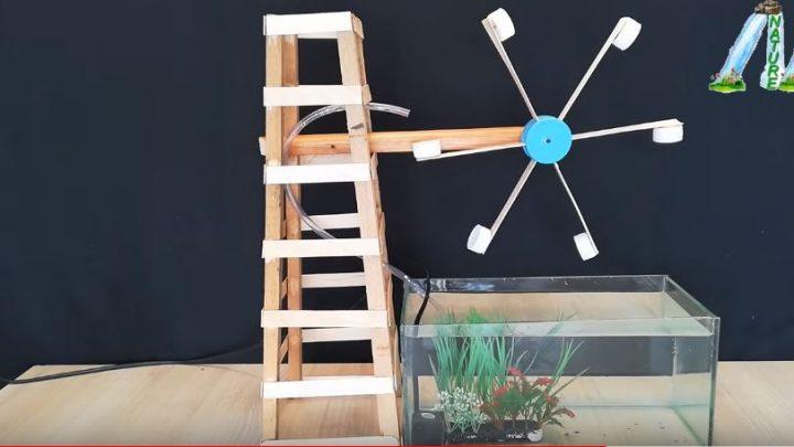 cách làm đài phun nước và hồ cá