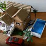 Hướng dẫn làm nhà phố từ bìa carton đơn giản