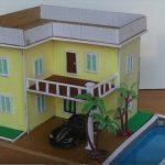 Cách làm nhà biệt thự màu vàng từ bìa carton tuyệt đẹp