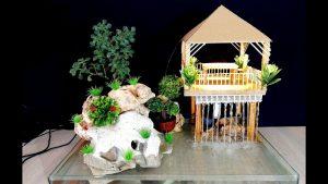 cách làm nhà có nước chảy