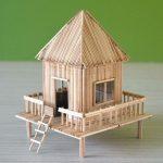 Hướng dẫn cách làm ngôi nhà từ tăm tre