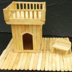 Hướng dẫn cách làm một ngôi nhà từ que kem gỗ