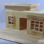 Hướng dẫn cách làm ngôi nhà ống từ que kem gỗ