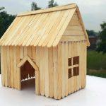 Hướng dẫn cách làm ngôi nhà từ que kem gỗ