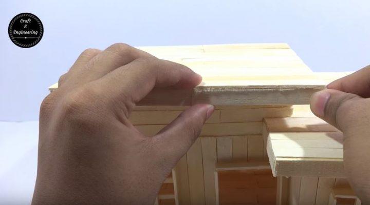 cách làm nhà từ que kem gỗ
