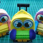 Doll Mini | Hướng dẫn cách làm cặp có bánh xe