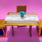 Hướng dẫn làm bộ bàn ghế siêu đơn giản từ giấy carton