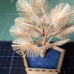 Hướng dẫn cách làm cây cọ siêu đẹp từ tăm tre