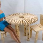 Doll Mini | Hướng dẫn làm ghế ngồi từ kẹp gỗ